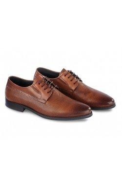 Туфли мужские Carlo Delari 7202099 37 цвет коричневый, кожа
