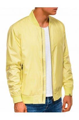 Мужская повседневная куртка-бомберка C439 - жёлтый - Ombre