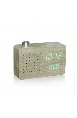 "Смарт-будильник + FM-радио ""ASH RADIO"", дерево - wos8024"