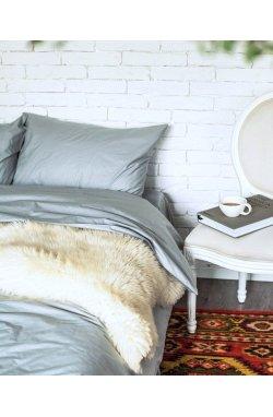 Комплект постельного белья сатин-люкс серо-голубой