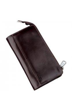 Клатч мужской кожаный SHVIGEL 16184 Коричневый, Коричневый