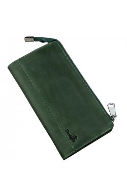 Клатч унисекс кожаный винтаж SHVIGEL 16188 Зеленый, Зеленый
