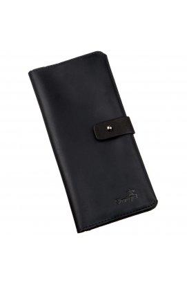 Бумажник мужской из винтажной кожи SHVIGEL 16209 Черный, Черный