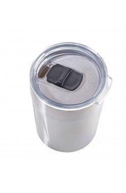 Термочашка для горячих напитков 160 мл стального цвета - wos6679