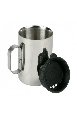 Термокружка с крышкой Tatonka - Thermo Delux 400, Silver/Black (TAT 4101.000)