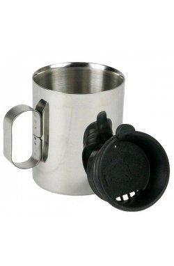 Термокружка с крышкой Tatonka - Thermo Delux 300, Silver/Black (TAT 4102.000)