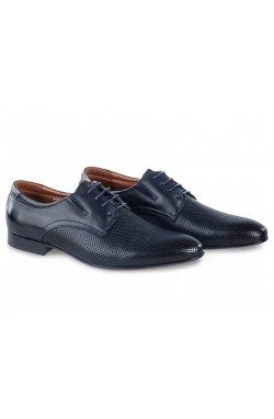 Туфли мужские Carlo Delari 7202016 цвет тёмно-синий, кожа