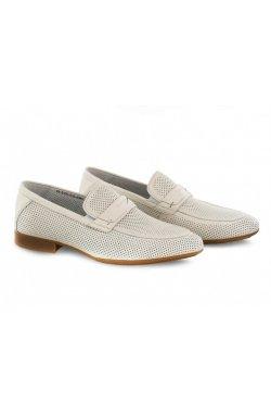 Туфли мужские Clemento 7202301 цвет белый, кожа