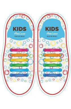 Дитячі прямі силіконові антишнурки для кросівок та кед