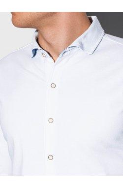 Мужская рубашка с длинным рукавом K540 - белый - Ombre