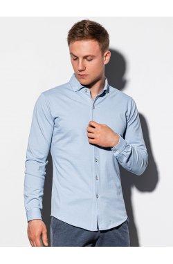 Мужская рубашка с длинным рукавом K540 - синий - Ombre