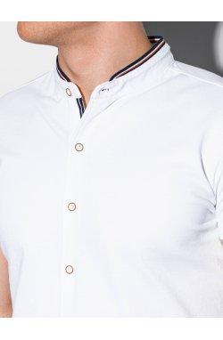 Мужская рубашка с коротким рукавом K543 - белый - Ombre