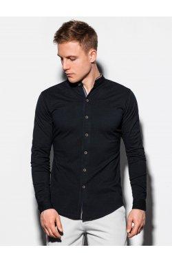 Мужская рубашка с длинным рукавом K542 - чёрный - Ombre