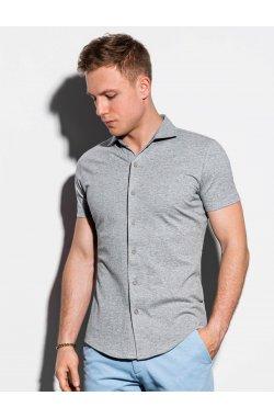 Мужская рубашка с коротким рукавом K541 - серый - Ombre