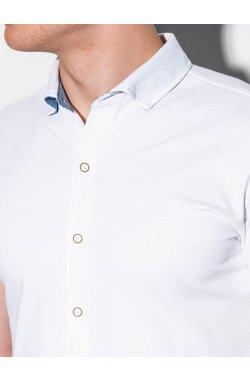 Мужская рубашка с коротким рукавом K541 - белый - Ombre