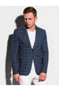 Мужской повседневный пиджак M161 - темно-синий - Ombre