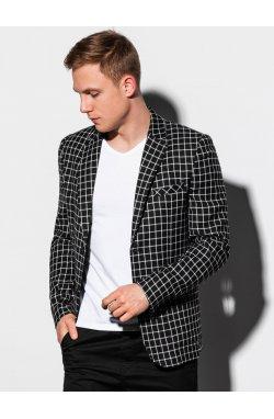Мужской повседневный пиджак M161 - чёрный - Ombre