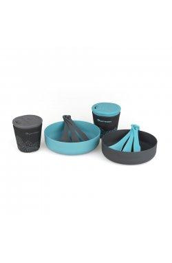 Набор посуды Sea to Summit - DeltaLight Camp Set 2.2 (2 mugs, 2 Bowls, 2 Delta Cutlery Sets), Pacific Blue/Grey, р. (STS ADLTSET