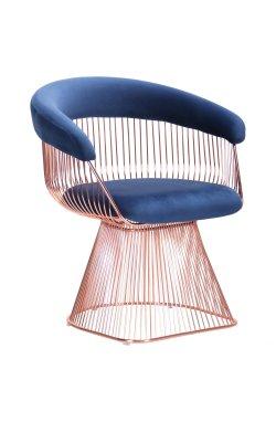 Кресло Roller, rose gold, royal blue - AMF - 545679