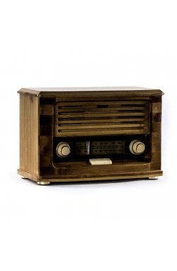 Ретро радио «Малыш» FM-радио, бамбуковый корпус - wos8011
