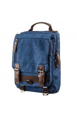 Сумка-рюкзак на одно плечо Vintage 20139 Синяя