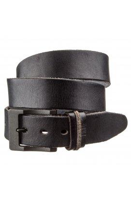 Ремень с массивной пряжкой Vintage 20127 Черный