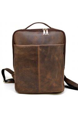 Кожаный мужской рюкзак коричневый RC-7280-3md Коричневый