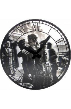 """Часы настенные """"Kiss me in Paris"""" - wos584"""