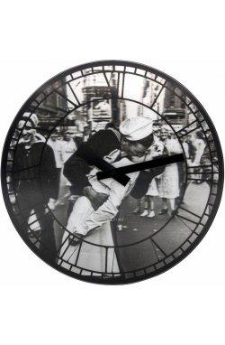 """Часы настенные """"Kiss me in New York"""" - wos585"""