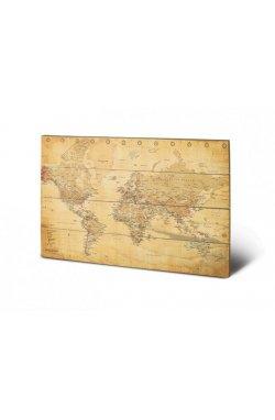 "Постер деревянный ""World Map"" - wos2282"