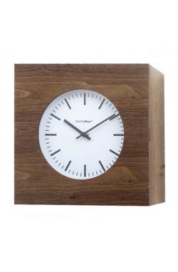 Часы настенные Balvi Qubo, коричневые - wos3043