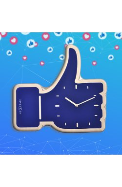 """Часы настенные """"Thumbs Up!"""", синие - wos4212"""