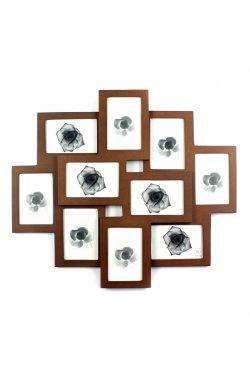 фоторамка на 10 фото, 9 x 13 см, под дерево - wos8238