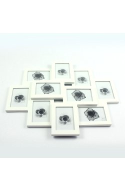 Фоторамка на 10 фото, 9 x 13 см, белая - wos8239