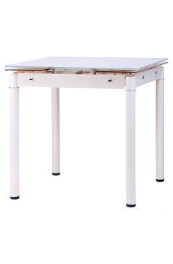 Стол Челси 750(1200)*700*760 База серый/стекло платина - AMF - 546523