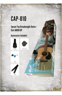 Акустическая гитара CORT TRAILBLAZER PACK CAP-810 (Open Pore)