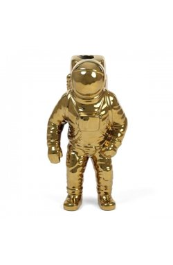 Ваза АСТРОНАВТ, фарфор «COSMIC-DINER-STARMAN-GOLD» - wos7761