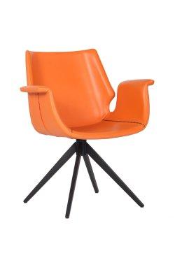 Кресло Vert orange leather - AMF - 545654