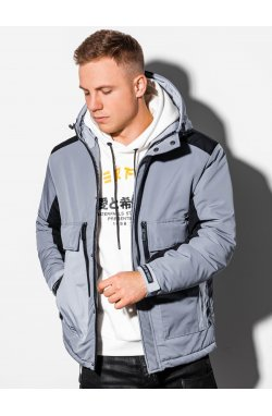 Мужская зимняя куртка C460 - серый - Ombre