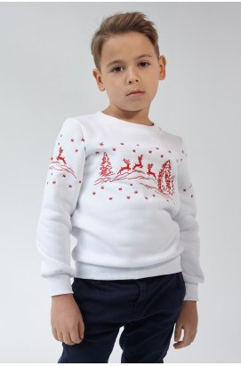 Рождественский свитшот для мальчика Олени White