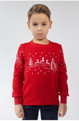 Різдвяний світшоти для хлопчика Олені Red