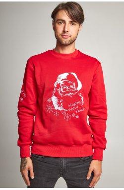 Новогодний мужской свитшот c Дедом Морозом