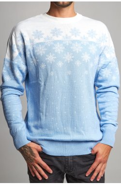 Новогодний вязаный свитер со звездами