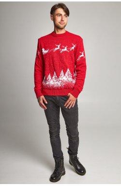 Новогодний вязаный свитер с Оленями 2