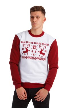 Рождественский мужской свитшот с Оленями