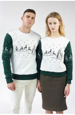 Новогодние свитшоти для двотх с Оленями