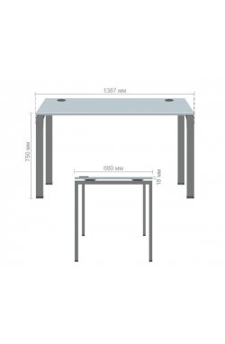 Стол письменный SIG-102-1 ДСП 18мм (1387х680х750мм) Черный графит 60х30мм. Вяз Либерти Дымчатый - AMF - 211563