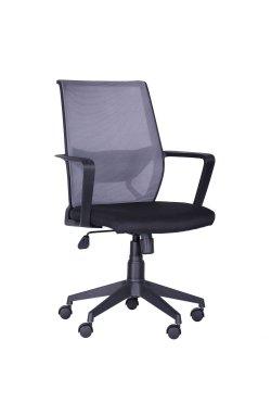 Кресло Tin сиденье Саванна nova Black 19/спинка Сетка SL-16 серая - AMF - 297003