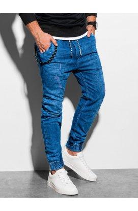 Чоловічі штани джинсові джоггер P939 - синій - Ombre