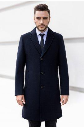 Мужское пальто осенне-весеннее K-160 (Luxury) — Синий